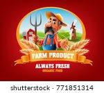 farm banner illustration | Shutterstock .eps vector #771851314