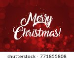 merry christmas wallpaper | Shutterstock . vector #771855808