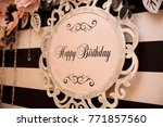 happy birthday banner | Shutterstock . vector #771857560