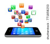 mobile smart phone with...   Shutterstock . vector #771858253