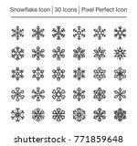 snowflake line icon editable... | Shutterstock .eps vector #771859648