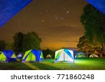 camping in campground area at... | Shutterstock . vector #771860248