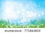 vector summer nature ... | Shutterstock .eps vector #771863833