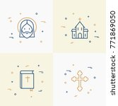 christianity thin line icons... | Shutterstock .eps vector #771869050