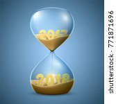hourglass. new year's concept... | Shutterstock .eps vector #771871696