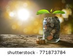 image of pile of coins with...   Shutterstock . vector #771873784