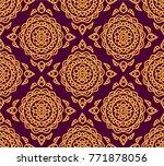 vector illustration seamless... | Shutterstock .eps vector #771878056