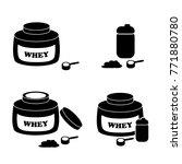 whey protein powder icon in... | Shutterstock .eps vector #771880780