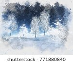 watercolour painting of a... | Shutterstock . vector #771880840