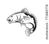 red fish vector logo   Shutterstock .eps vector #771885778