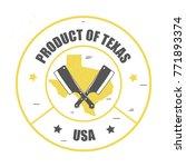 vintage market label for meat...   Shutterstock .eps vector #771893374