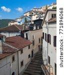 Small photo of Rivisondoli (L'Aquila, Abruzzi, Italy), the historic village in a summer morning