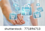 businessman on blurred... | Shutterstock . vector #771896713
