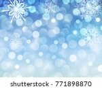 new year background blue... | Shutterstock .eps vector #771898870