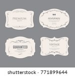 set of vintage labels old... | Shutterstock .eps vector #771899644