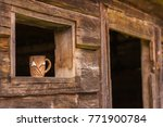 up coffee on vintage wooden... | Shutterstock . vector #771900784