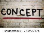 concept   graffiti wall  | Shutterstock . vector #771902476