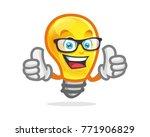bulb character  mascot. perfect ...   Shutterstock .eps vector #771906829