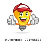 bulb character  mascot. perfect ...   Shutterstock .eps vector #771906838