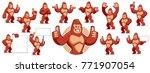 Vector Of Gorilla Mascot...