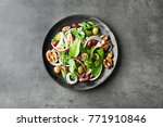 Plate With Delicious Vegetable...