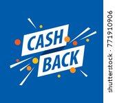 emblem cash back   Shutterstock .eps vector #771910906