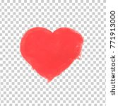 hand drawn painted red heart ... | Shutterstock .eps vector #771913000