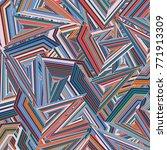 pattern geometric abstract ... | Shutterstock . vector #771913309
