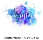 handwritten modern calligraphy... | Shutterstock .eps vector #771913540