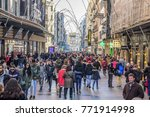 madrid  spain. december 7  2017.... | Shutterstock . vector #771914998