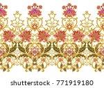 seamless pattern. golden...   Shutterstock . vector #771919180
