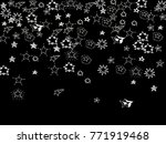 doodle star confetti. hand... | Shutterstock .eps vector #771919468
