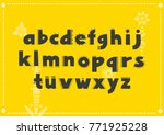 vector alphabet decorated with... | Shutterstock .eps vector #771925228
