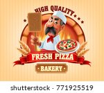 fresh pizza and bakery shop | Shutterstock .eps vector #771925519