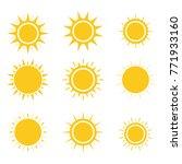 sun icons set. flat design....   Shutterstock .eps vector #771933160