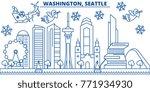 usa  washington   seattle... | Shutterstock .eps vector #771934930