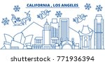 usa  california  los angeles... | Shutterstock .eps vector #771936394