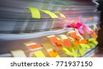 paper stack  pile of unfinished ... | Shutterstock . vector #771937150