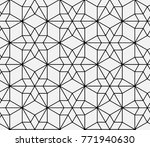 seamless islamic pattern vector ... | Shutterstock .eps vector #771940630
