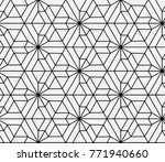 seamless islamic pattern vector ... | Shutterstock .eps vector #771940660