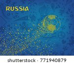 russia lettering with dot shape ... | Shutterstock .eps vector #771940879