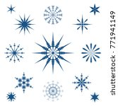creative snowflakes. set of... | Shutterstock .eps vector #771941149