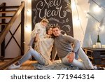 christmas and new year 2018... | Shutterstock . vector #771944314
