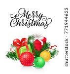 merry christmas lettering with... | Shutterstock .eps vector #771944623