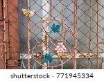curved steel pattern butterfly... | Shutterstock . vector #771945334