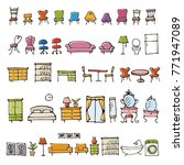 hand drawn furniture sketch... | Shutterstock .eps vector #771947089