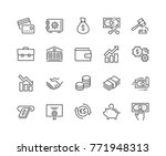 simple set of finance related... | Shutterstock .eps vector #771948313