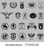 heraldic and royal symbols.... | Shutterstock .eps vector #77195110
