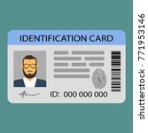 the idea of personal identity.... | Shutterstock .eps vector #771953146
