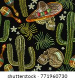 classical ethnic embroidery... | Shutterstock .eps vector #771960730